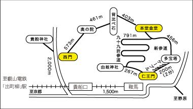 鞍馬寺山内案内図
